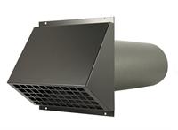 WTW HR Aluminium geveldoorvoer Ø250mm Zwart inclusief buis-1