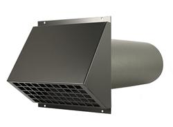 WTW HR Aluminium geveldoorvoer Ø250mm Zwart inclusief buis
