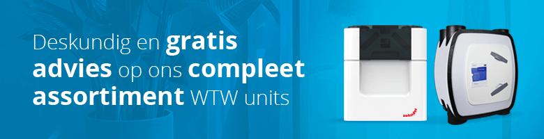 Het grootste assortiment en het meest deskundige maatwerk WTW advies vindt u alleen bij Ventilatieland-nl