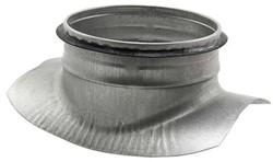 Zadelstuk 90° diameter 125mm met aftakking naar diameter 125mm tbv spiro buis