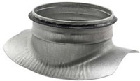 Zadelstuk 90° diameter 1000mm met aftakking naar diameter 400mm tbv spiro buis-1