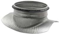 Zadelstuk 90° diameter 150-160mm met aftakking naar diameter 125mm tbv spiro buis-1