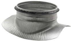 Zadelstuk 90° diameter 160mm met aftakking naar diameter 150mm tbv spiro buis (zonder rubber)