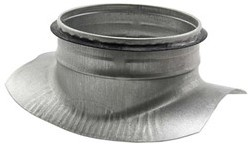 Zadelstuk 90° diameter 180-200mm met aftakking naar diameter 180mm tbv spiro buis