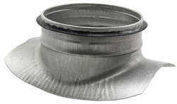 Zadelstuk 90° diameter 200mm met aftakking naar diameter 160mm tbv spiro buis