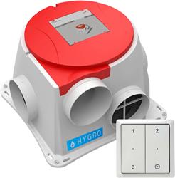 Zehnder ComfoFan S R Hygro ventilator + vochtsensor + RFT zender - euro stekker