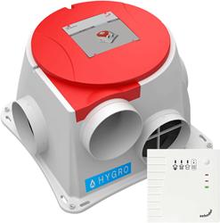 Zehnder ComfoFan S Hygro CO2 ventilator + vochtsensor + RFT hoofdbediening met CO2 - euro stekker