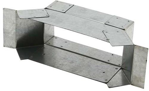 Zijaansluiting 165mm x 80mm voor rechthoekig instortkanaal